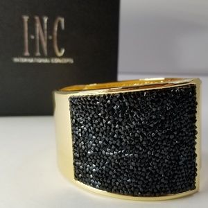 Statement Piece - Gold Tone and Black Bling INC Cu